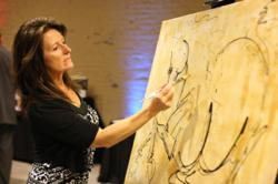 Donna B paints live at 2011 Ferdinand's Ball