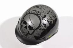Boneyard Silver DOT Helmet