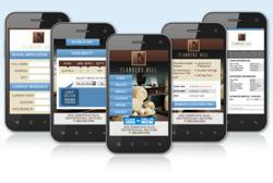 Series of mobile phone price presentations.