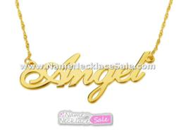 Gold / Gold Plated Name Necklace