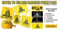 FlagandBanner.com's Gadsden contest prize package that was won by Jeff from Heber Springs, Arkansas.