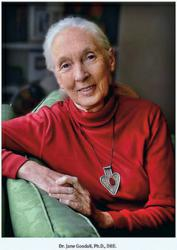 "Jane Goodall will deliver address titled ""Making a Difference"" at Lafayette College in Easton, Pa."