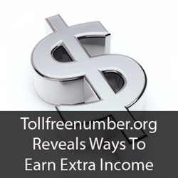 Tollfreenumber.org Reveals ways to earn extra income with a toll free number