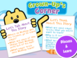 Grown-Up's Corner Questions for Discussion of the Story