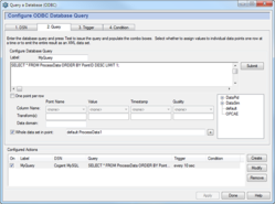 Screenshot of the Query a Database option in the Cogent DataHub
