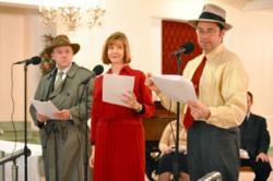 Those Thrilling Days of Yesteryear perform at the Oak Park Arms retirement community.
