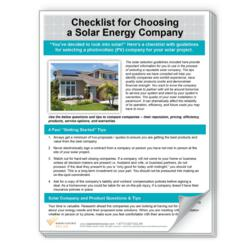 Checklist for Choosing a Solar Energy Company