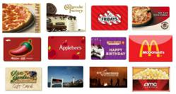 Sample Giftcards to be Won