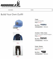 """Hoodiezz.com """"Build Your Own Outfit"""" Feature"""