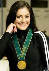 1996 Olympic gold medalist gymnast, Dominique Moceanu