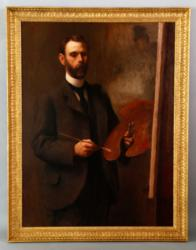 "DeWitt McCellan Lockman, ""Self Portrait,"" O/C"