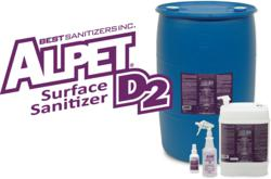 Surface Sanitizer, Disinfectant, Alpet D2, Best Sanitizers, Kills Norovirus, Cruise Ships, Non-Corrosive, Kills 99.999% of tested pathogens