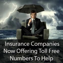 Insurance companies now offering toll free numbers to help policyholders