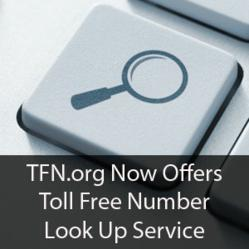 TFN.org now offers toll free number look up service