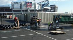 Pressure Washing Speakers At Sports Authority Field