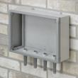 wall mount enclosures rear panel allows fast mounting
