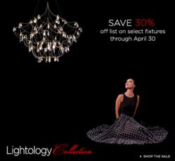 Save 30% on Select Lightology Collection Fixtures Through April 30