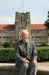 Dr. William L. Ridgway in front of Olmsted Hall in 2008.