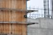 A SecurTek Videofied camera installed on a concrete form at an undisclosed construction site.