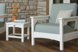 Polywood Club Chair in White