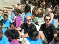 Andy Ording and Todd Winget visiting Christel House South Africa