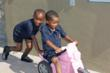 Christel House South Africa students in a push cart race