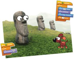 Easter Island Puppy Animation made using Tynker