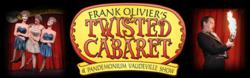 Twisted Cabaret image with images from the show montaged with the show sign