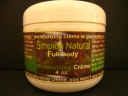 Jar of Simplee Natural Moisturizing Creme