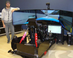 James Hinchcliffe helps create motion profiles for SimXperience Racing Simulator
