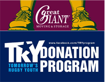 Great Giant Moving Company and Tomorrow's Rugby Youth team up!