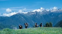 Wilderness Ventures group on a mountain trek.