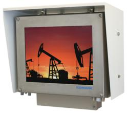 Comark's new CID2 Workstation shown with sunshield and I/O cover
