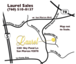 Map showing location of Laurel at Old Creek Ranch