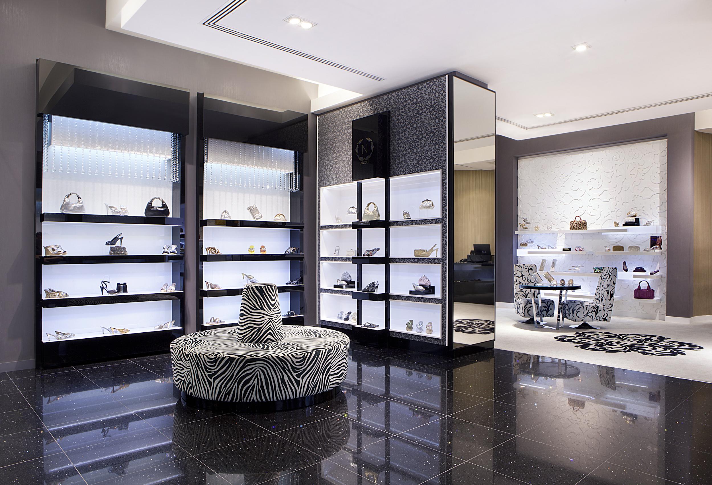 Nicoli the luxury crystal embellished shoe and handbag for Luxury boutique
