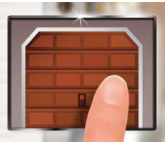 Use Smart Garage from your panel