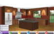 Kitchen configurator allows users to virtually customize their kitchen layout.