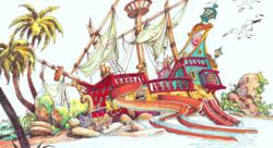 Sesame Street pirate ship at Costa Caribe aquatic park
