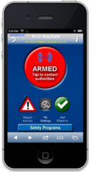 K-12 StaySafe mobile panic button app