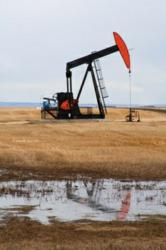 A pumpjack in the Alberta oilpatch