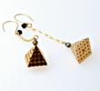 "Pyramid Earrings, ""Every Day by Minabea"" Collection"