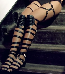 The innovative thigh-high sandal from the Haus Von Lila footwear brand.