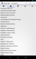 Jobberman Android App Screen Shot