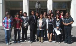 Futures for Children Youth Leadership students attend New Mexico Legislative Session in Santa Fe.