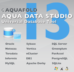 Aqua Data Studio v13 Supports 20+ databases