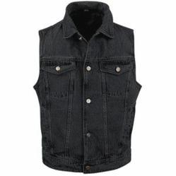 Mens Black Denim Vest
