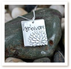 HERBIVORE flower necklace by Zoe and Piper in sterling silver. Made in the USA.