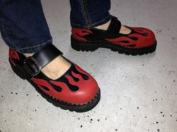 Flamed Mary Jane Shoes