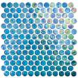 Tesoro 12 X 12 Excalibur Penny Round Glass Mosaic Sheet - 8mm From REFLECTIONS - KELUEX21330