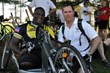 COL Gregory Gadson and Special Agent Christopher Rosen at the 2009 Face of America ride.